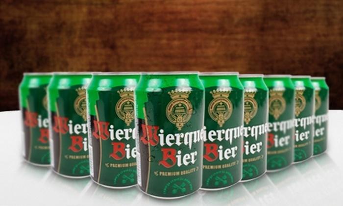 Arbat: $8.990 en vez de $17.648 por pack de 24 latas de cervezas Wierquer Bier en Arbat con despacho