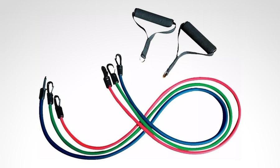 Shopping Colombia: Set de 3 bandas elásticas tubulares para ejercicio de resistencia. Incluye envío