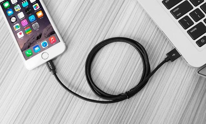 Otto Ware: Cable Lightning para Iphone 5, 5s, 5c, 6, 6s, 6 plus, 6s + dado de carga en color a elección con Otto ware
