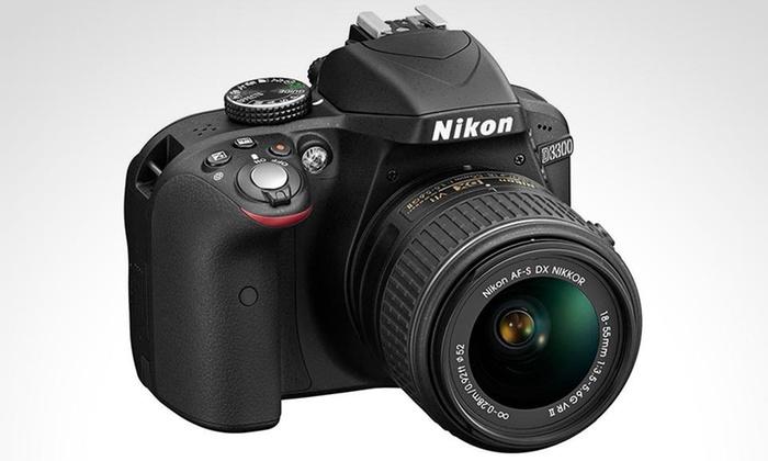 Groupon Shopping: Cámara Reflex Nikon D3300 + lente 18-55 mm. Incluye despacho
