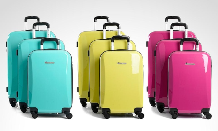 Groupon Shopping: 3 maletas ABS + PC Ultralight 360° Travel Collection modelo Cooper en color a elección. Incluye despacho