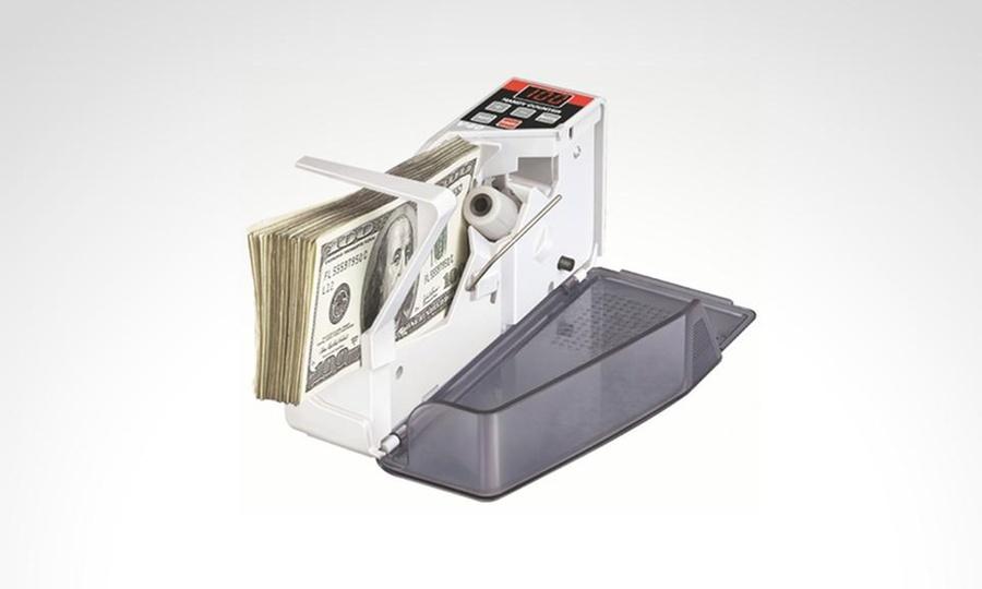 Shopping México: Contador de billetes portátil de uso con pilas y corriente eléctrica. Incluye envío