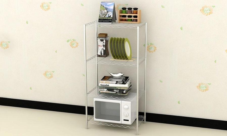 Groupon Shopping: Rack estantería metálico de 4 niveles con despacho