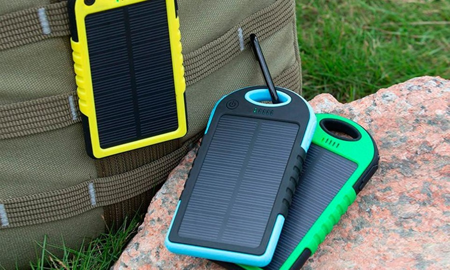 Shopping México: Solar panel Power Bank 5000mAh Antishock con 2 puertos USB en color a elegir. Incluye envío
