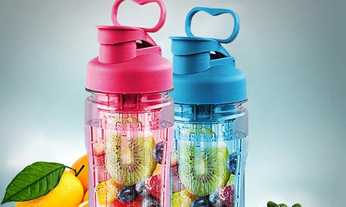 Groupon Shopping: Botella infusora de frutas con cubos para hielo reutilizables en color a elegir. Incluye despacho