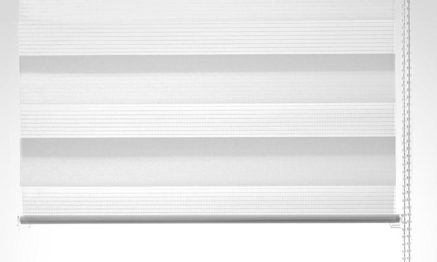 Groupon Shopping: Cortina Roller Duo de color blanco en tamaño a elección. Incluye despacho