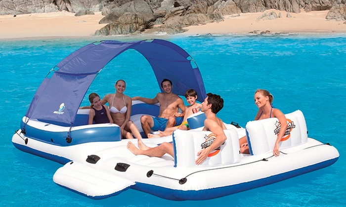 Groupon Shopping: Isla flotante para 6 personas marca Bestway. Incluye despacho