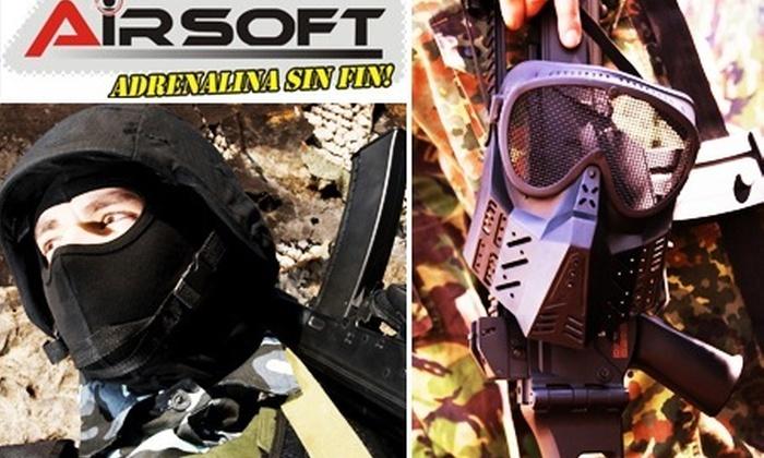 : Juego de Airsoft: Paga $15.000 por juego + traje + máscara de protección + 300 tiros + campo iluminado en Airsoft Club Medellín