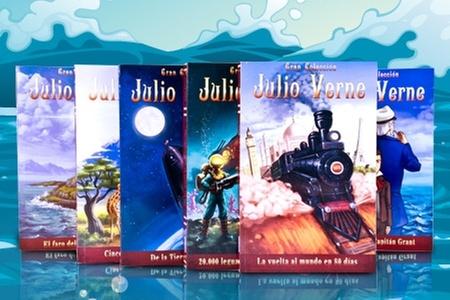 Groupon Shopping (colección Julio Verne): $13.990 en vez de $28.680 por colección de 10 libros de Julio Verne
