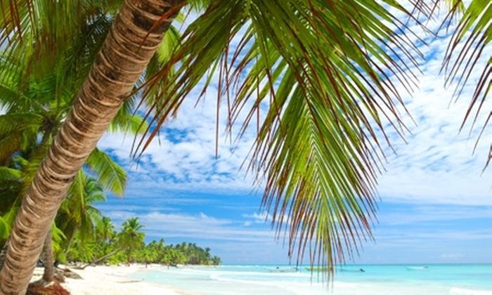 Groupon Travel  (Punta Cana): Punta Cana: 5 o 7 noches para dos pagando desde $579.000 por persona con sistema all inclusive en hotel Grand Paradise Bávaro + traslados + aéreos. Elige la fecha de salida