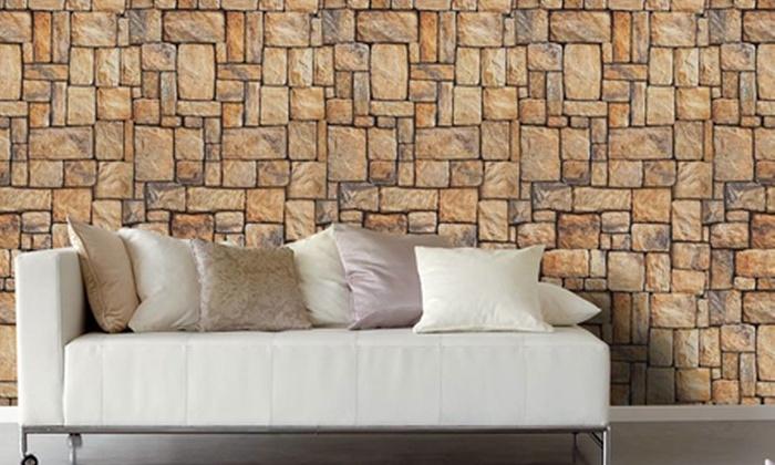 Decor club groupon del d a groupon - Papel decorativo para pared ...