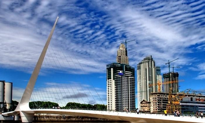 Groupon Travel (Buenos Aires): Vacaciones de invierno en Buenos Aires: paga desde $205.000 por persona por 3 o 4 noches para dos en hotel Dazzler Suites Arroyo + desayuno + aéreos. Elige fecha de salida