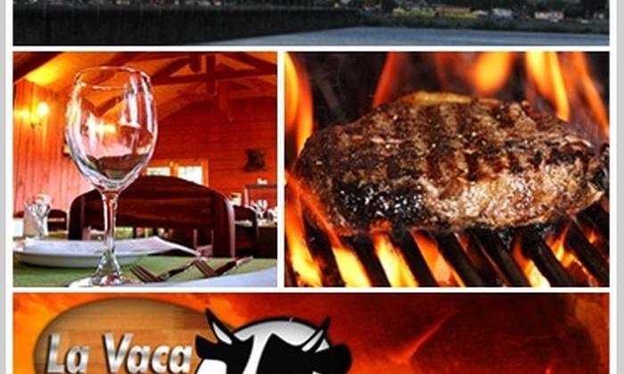 Restaurant La Vaca: Paga $5.000 y consume $10.000 en la exquisita carta de carnes a las brasas y platos criollos en Restaurant La Vaca de San Pedro de la Paz