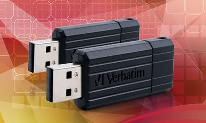 Groupon Shopping (pendrive Verbatim retráctil negro): $9.990 en vez de $15.190 por dos pendrive Verbatim retráctil de 8 GB con despacho