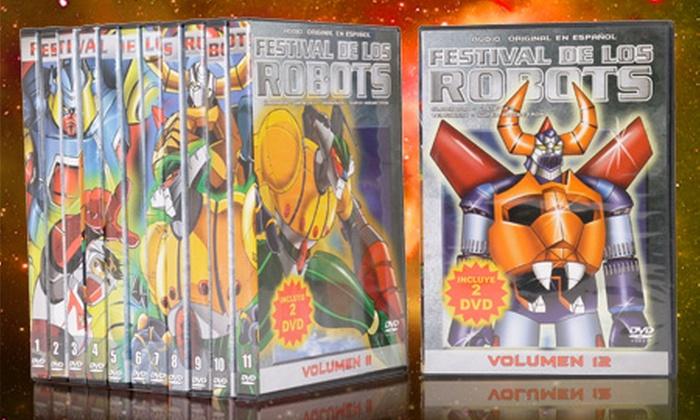 Groupon Shopping  (DVDs Festival de los Robots): $19.990 en vez de $49.860 por 24 DVDs de la serie Festival de los Robots con despacho