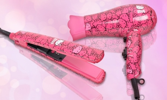Groupon Shopping (Productos Hello Kitty): Paga desde $10.850 por secador y/o plancha Hello Kitty by Sanrio® con despacho
