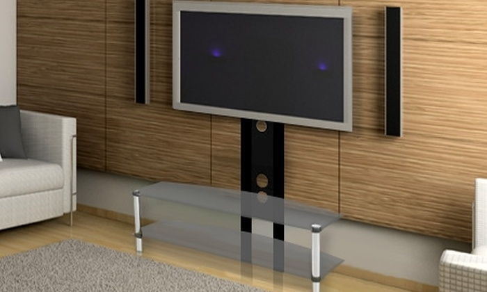 Casa del Soporte: $79.990 en vez de $159.990 por rack para pantalla led o LCD con dos bandejas de vidrio templado. Incluye despacho