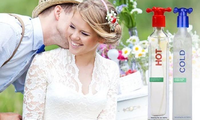 Groupon Shopping (Perfume Benetton®): $299 en vez de $757 por perfume HOT o COLD de Benetton® con envío