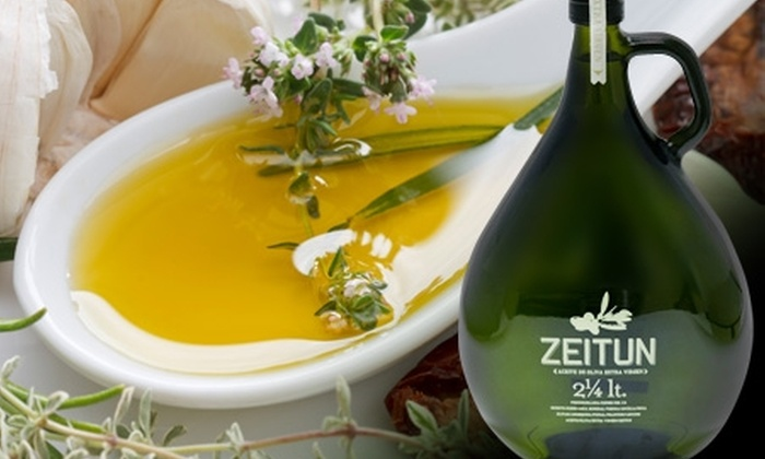Zeitun: $11.450 en vez de $26.650 por botellón de aceite de oliva extra virgen premium Zeitun con despacho