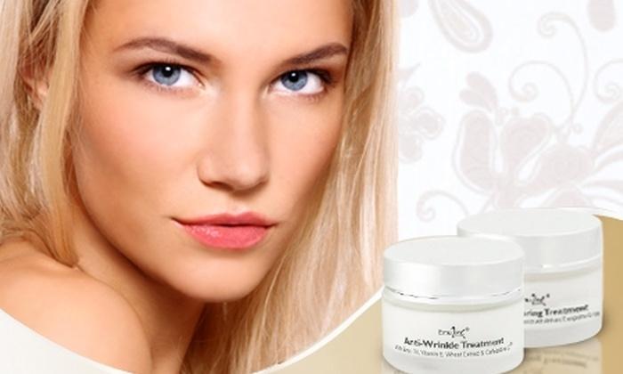 EMULINE: $9.990 en vez de $22.610 por pack facial Emuline® que incluye crema antiarrugas + crema renovadora efecto peeling con despacho