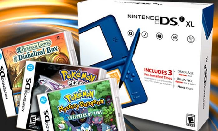 Nintendo®: $99.990 en vez de $159.770 por Nintendo DSi™ XL + 3 juegos con despacho