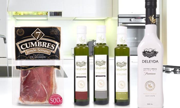 Global Food Link: Paga desde $13.290 por jamón serrano 7 Cumbres Reserva + aceite de oliva con Global Food Link. Incluye despacho
