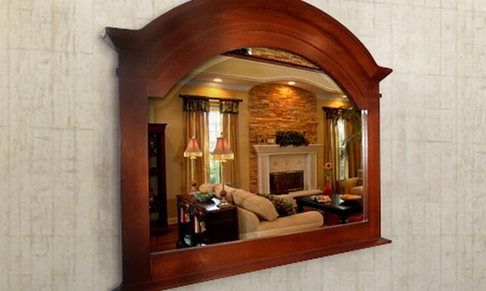 Meso Spa: $95.000 en vez de $320.000 por espejo biselado con marco de madera color caramelo o chocolate con despacho