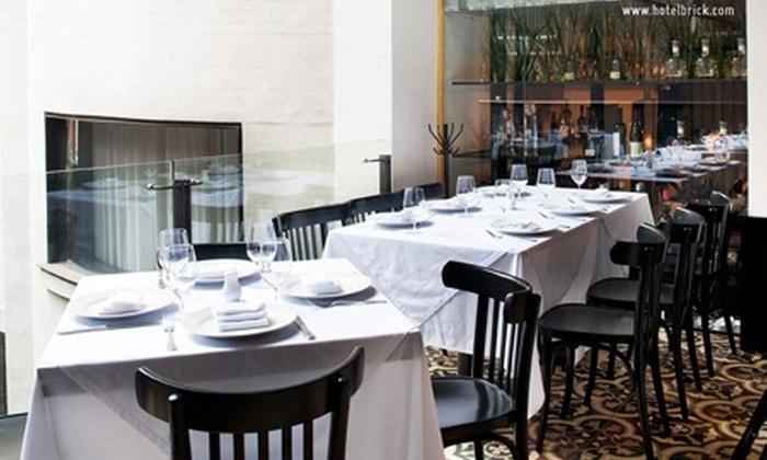 : Desde $390 por brunch dominical o menú gourmet de 3 tiempos para dos en Brasserie La Moderna en Hotel Brick