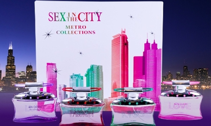 Groupon Shopping (Perfumes Sex in the City): Paga $7.990 por estuche de 4 perfumes Sex in the City con despacho