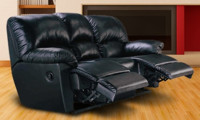 Groupon Shopping (sofá de 3 cuerpos reclinable) - Groupon Shopping (sofá de 3 cuerpos reclinable): Paga $244.900 por sofá de 3 cuerpos reclinable