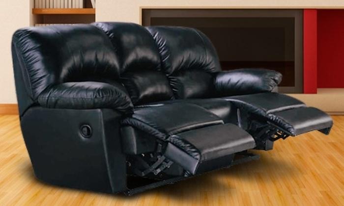 Groupon Shopping (sofá de 3 cuerpos reclinable) - Groupon Shopping (sofá de 3 cuerpos reclinable): $244.900 en vez de $490.000 por sofá de 3 cuerpos reclinable