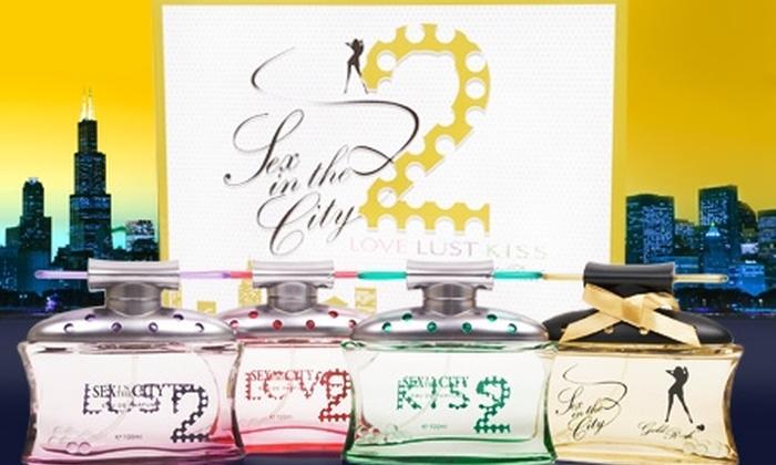 Perfume Palace: $9.990 en vez de $26.630 por 4 perfumes Sex in the City 2 con Perfume Palace. Incluye despacho