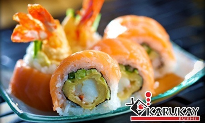 : 82% de descuento por un yakimeshi + rollo maki + refresco en Karukay
