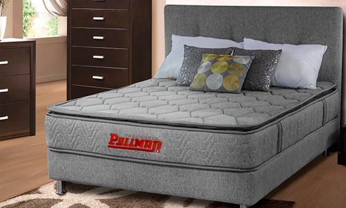 Amoblando Pullman: Colchón doble Ortoflex Btu + cabecero + basecama línea Mohnblatt Design con Amoblando Pullman