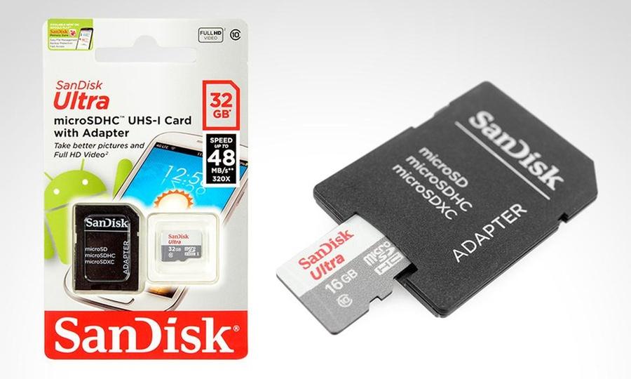 Groupon Shopping: 1 o 2 memorias microSDXC ultra clase 10 de 16 o 32 GB. Incluye despacho