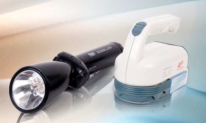 Groupon Shopping (Linterna): Paga $9.990 por quitapelusas + linterna led con radio negra o blanca. Incluye despacho