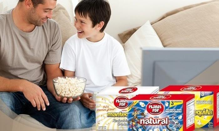 Bembos: S/.15.60 en vez de S/.26 por 12 paquetes de popcorn Planet Pop.