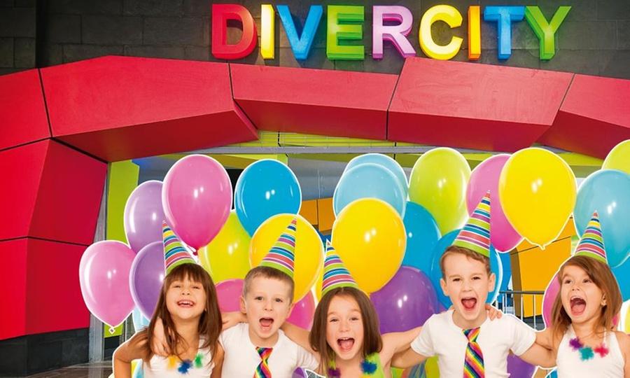 Divercity Barranquilla: Fiesta infantil para 10 niños y 10 adultos + salón decorado + pizza enDivercity Barranquilla