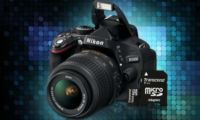 Groupon Shopping (Cámara Nikon): $489.990 por cámara digital Nikon D5100 con micro SD de 16GB con despacho