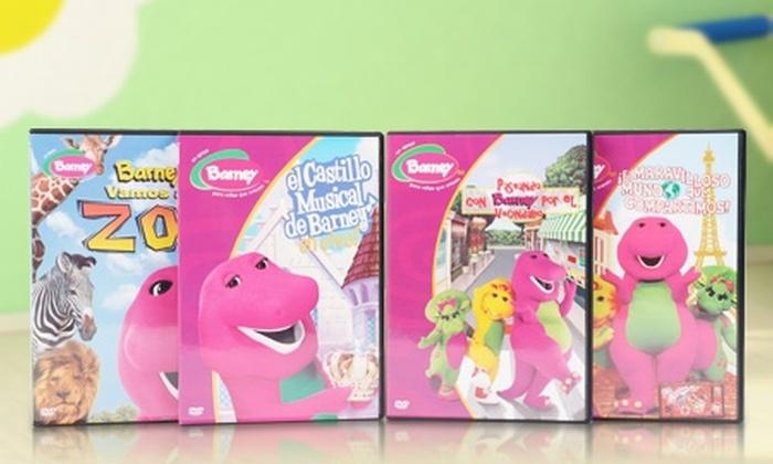 Animemedia: $9.990 en vez de $25.240 por 4 DVDs de la serie infantil Barney con Multivisual Ltda. Incluye despacho