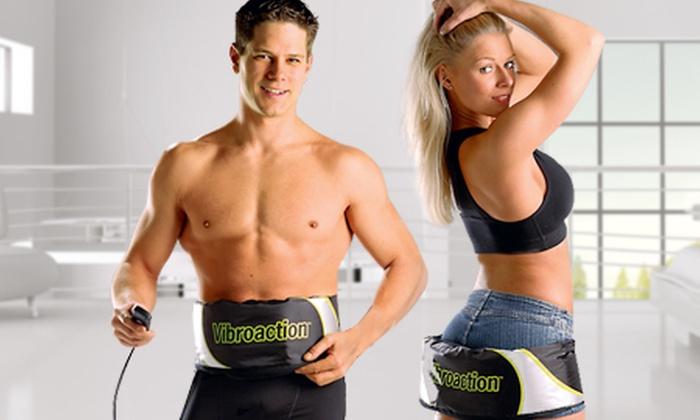 Groupon Shopping (cinturón abdominal): Paga $16.490 por cinturón abdominal Vibroaction. Incluye despacho