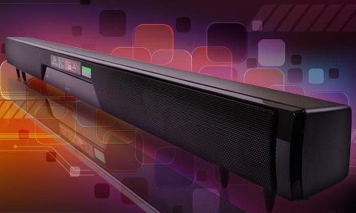 Groupon Shopping (parlante Sharp): $39.990 en vez de $91.140 por parlante de sonido envolvente SHARP con despacho