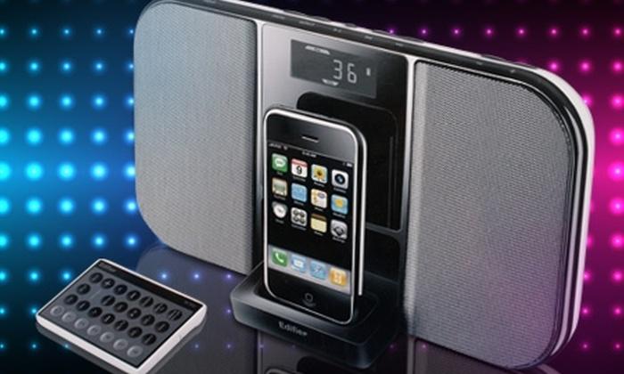 Groupon Shopping (parlante portátil): Paga $74.990 por parlante portátil marca Edifier modelo If 350 para iPhone o iPod. Incluye despacho