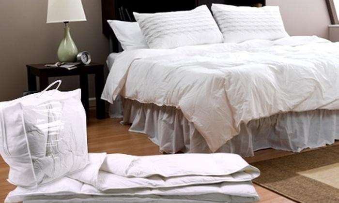 Spomo: Paga desde $24.990 por plumón 100% plumas de 2 plazas marca Spomo con opción a almohadas. Incluye despacho