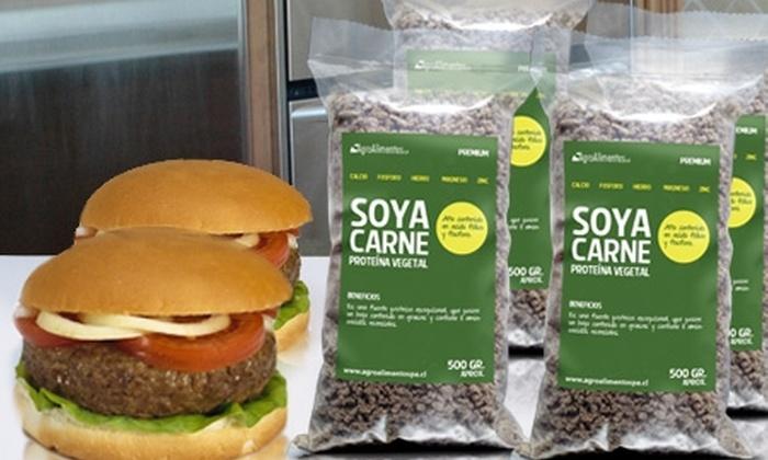 AgroAlimentosSpA: Paga $7.490 por 2 kg de carne de soya vegetal en AgroAlimentosSpA con despacho