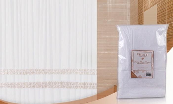 Velutti: $9.990 en vez de $19.800 por cortina de baño marca Velutti con diseño a elección. Incluye despacho
