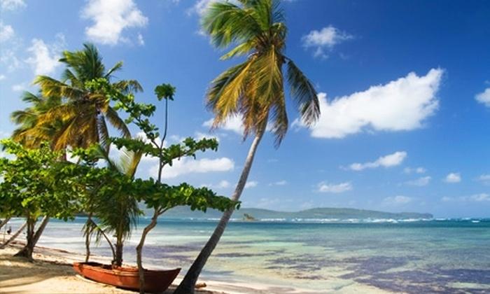 Groupon Travel (Samaná): Descubre Samaná, República Dominicana: 7 noches para dos en Hotel Grand Paradise Samaná con sistema all inclusive + aéreos + traslados pagando $629.000 por persona