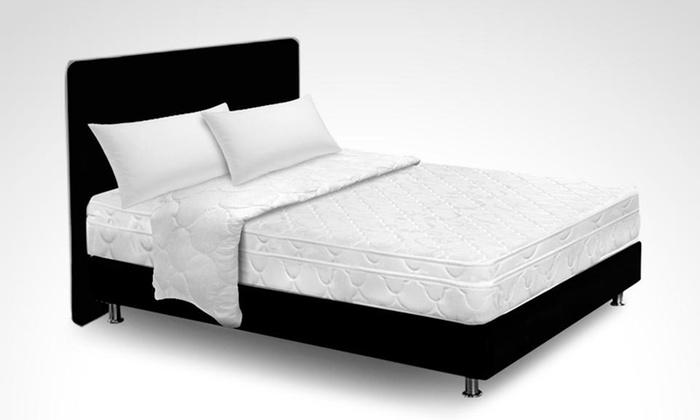 Amoblando Pullman: $749.000 en vez de $.2334.900 por colchón Dormiflex Euro doble + basecama + cabecero + plumón + 2 almohadas en Amoblando Pullman