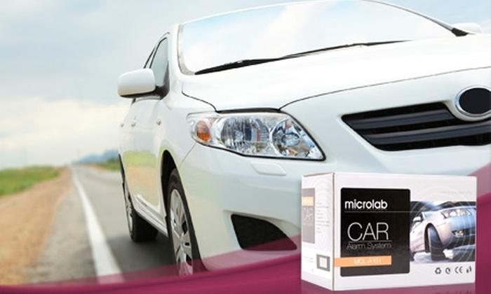 Groupon Shopping (alarma para auto): $19.990 en vez de $41.622 por alarma para auto Microlab, con despacho