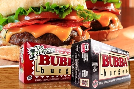 Comercial Océano: $8.300 en vez de $16.550 por 2 cajas de 6 hamburguesas americanas angus variedad a elección marca BUBBA con Comercial Océano. Incluye despacho